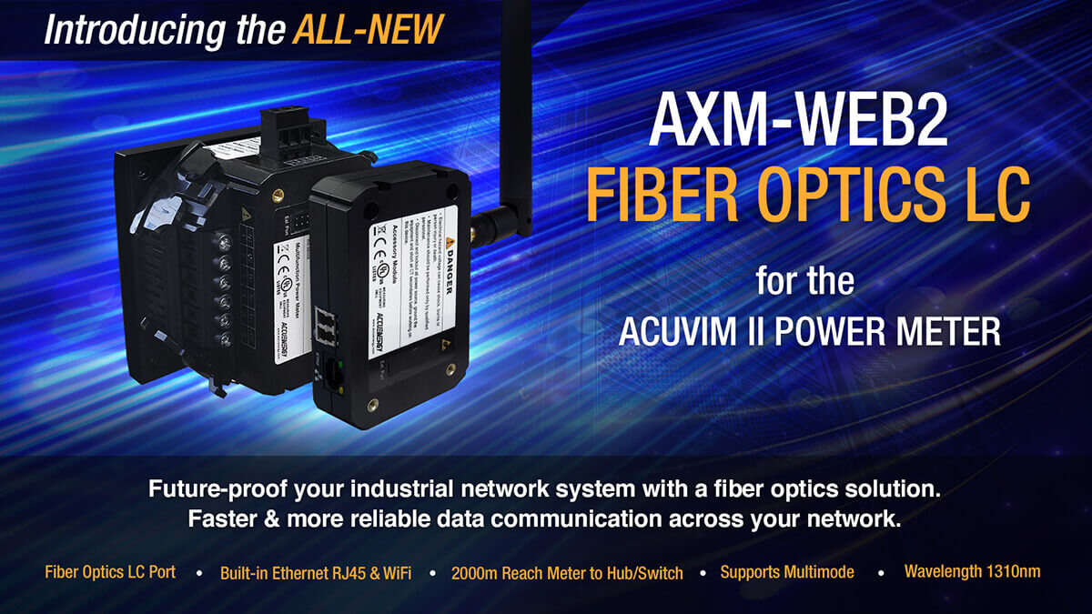 AXM-WEB2 Fiber Optics LC Released by Accuenergy